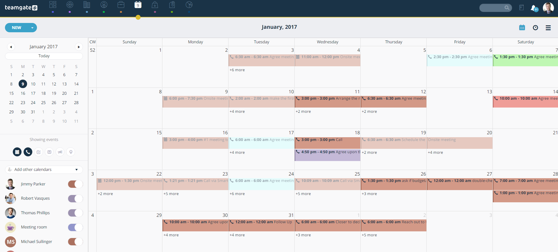 Organizer: Plan Activities, Log Calls, Schedule Meetings – Teamgate