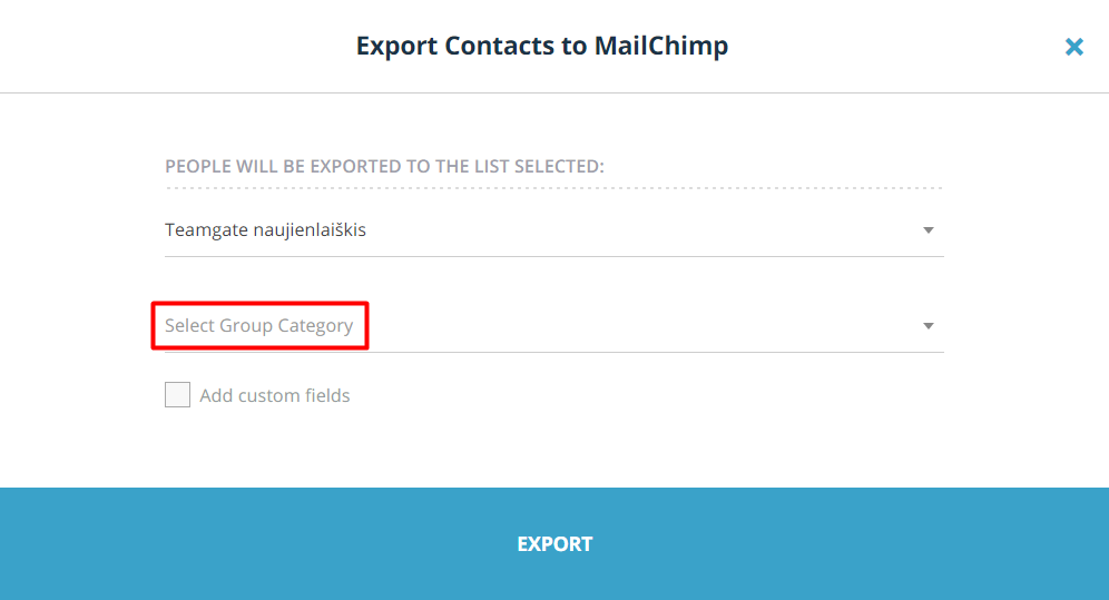 export-contacts-to-mailchimp-select-group-category-teamgate.png