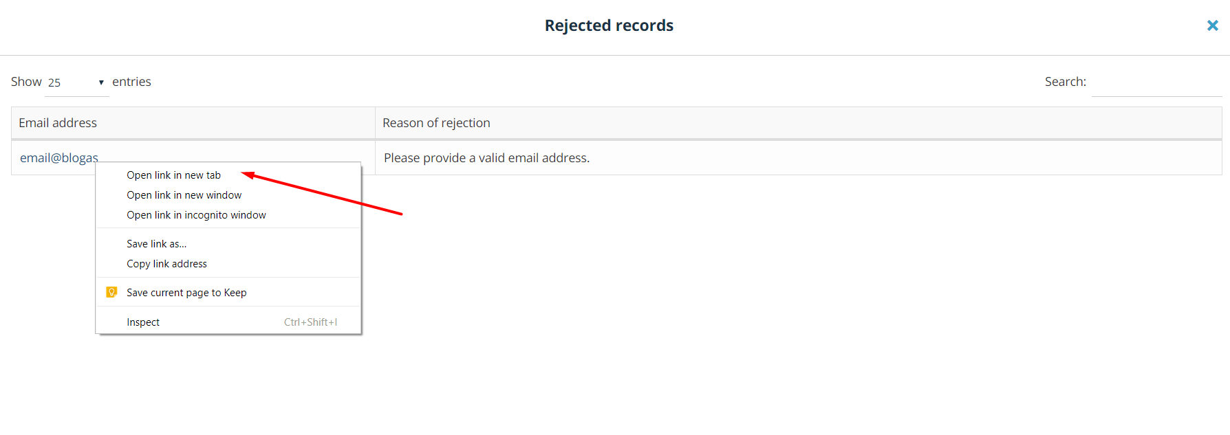 rejected-records-mailchimp-teamgate-integration.png