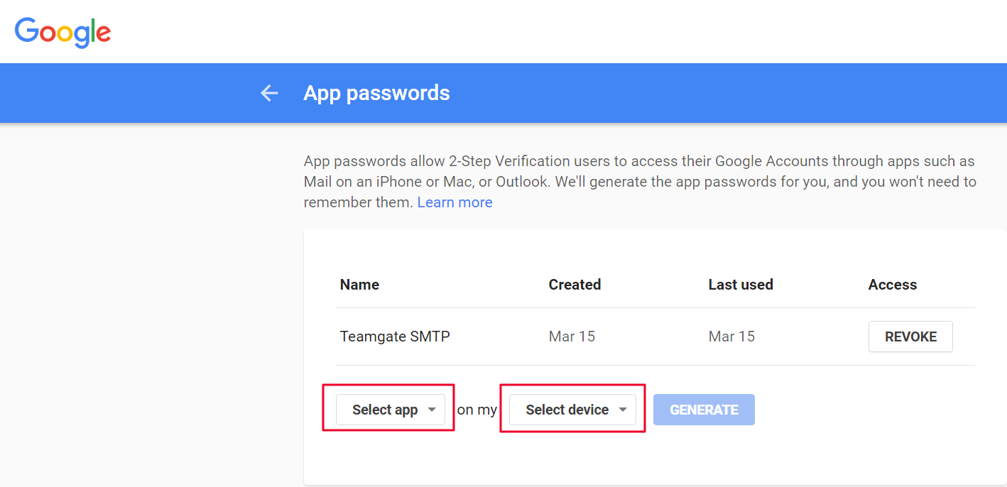 How to create a password to connect email while using 2-step verification  in Gmail? – Teamgate