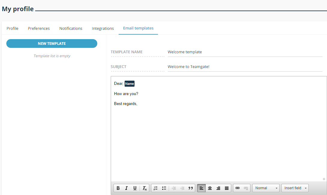how to create email templates in teamgate   u2013 teamgate