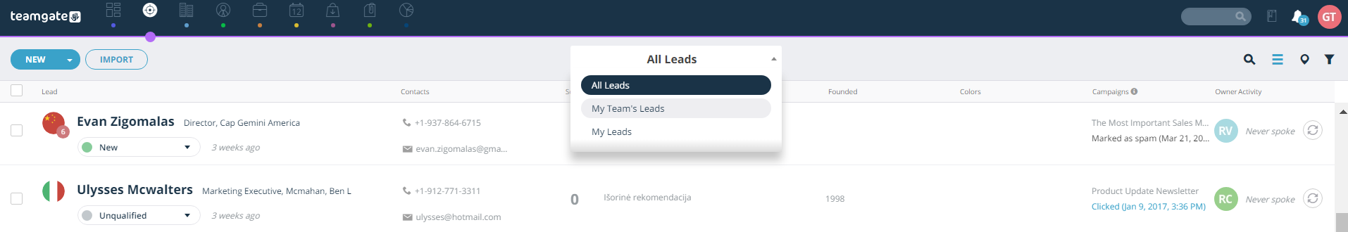 all-leads-my-leads-teams-leads-teamgate.png