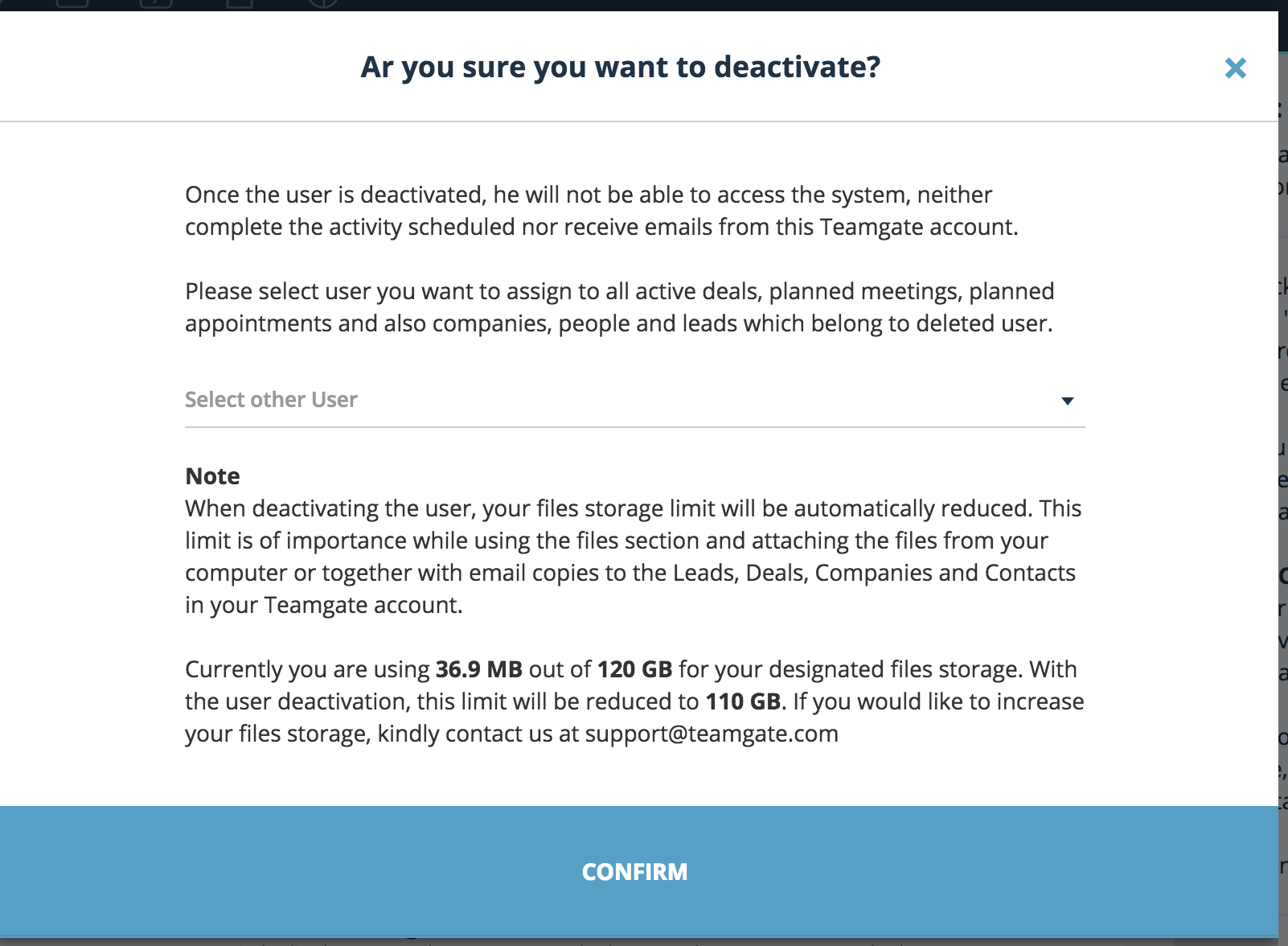How to deactivate the user and reassign active tasks and