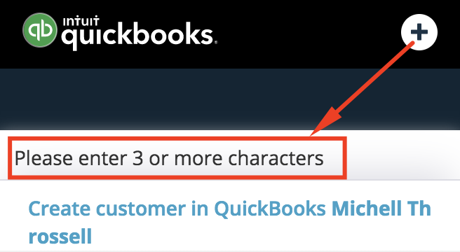 Search-a-customer-in-QuickBooks-Teamgate-integration.png