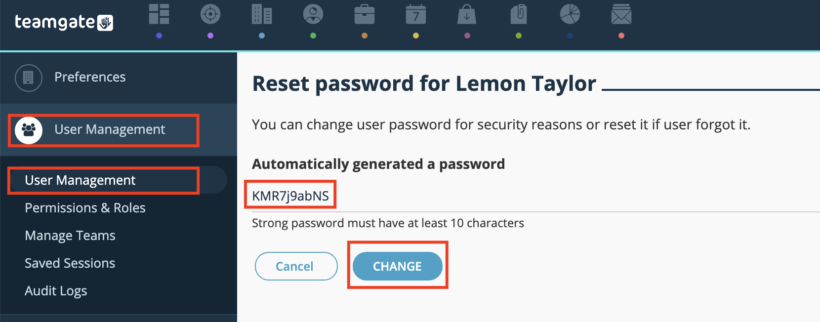 Reset-password-generated-password-Teamgate-CRM.png