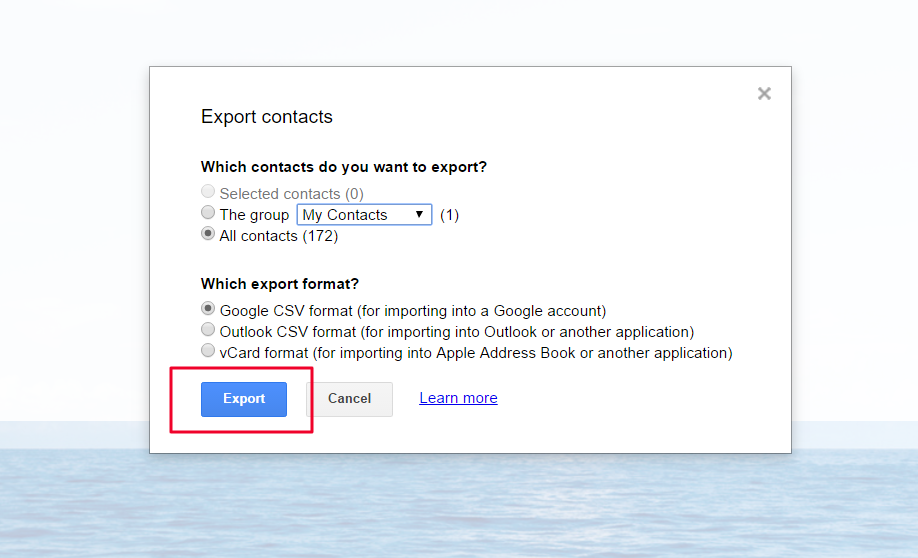 How to export contacts from Google contacts? – Teamgate