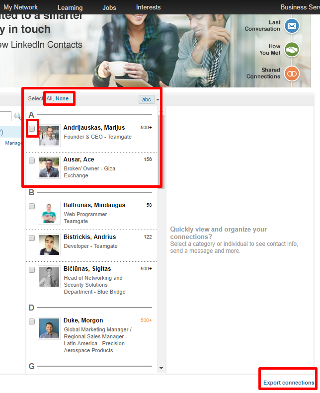 how to import contacts from linkedin profile   u2013 teamgate